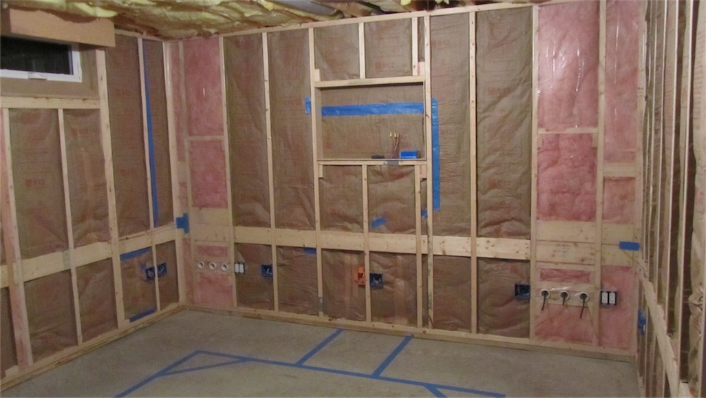 Drywall Moisture Barrier : Shack construction part insulation drywall and