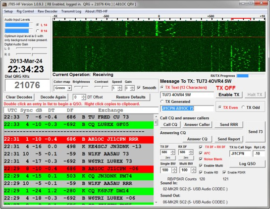 JT65HF Main Window