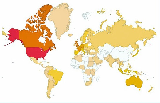 March 2013 Reader Countries