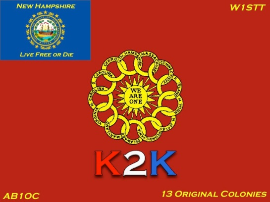 New K2K New Hampshire QSL Card
