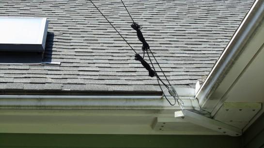 Mast Guy Anchor On House