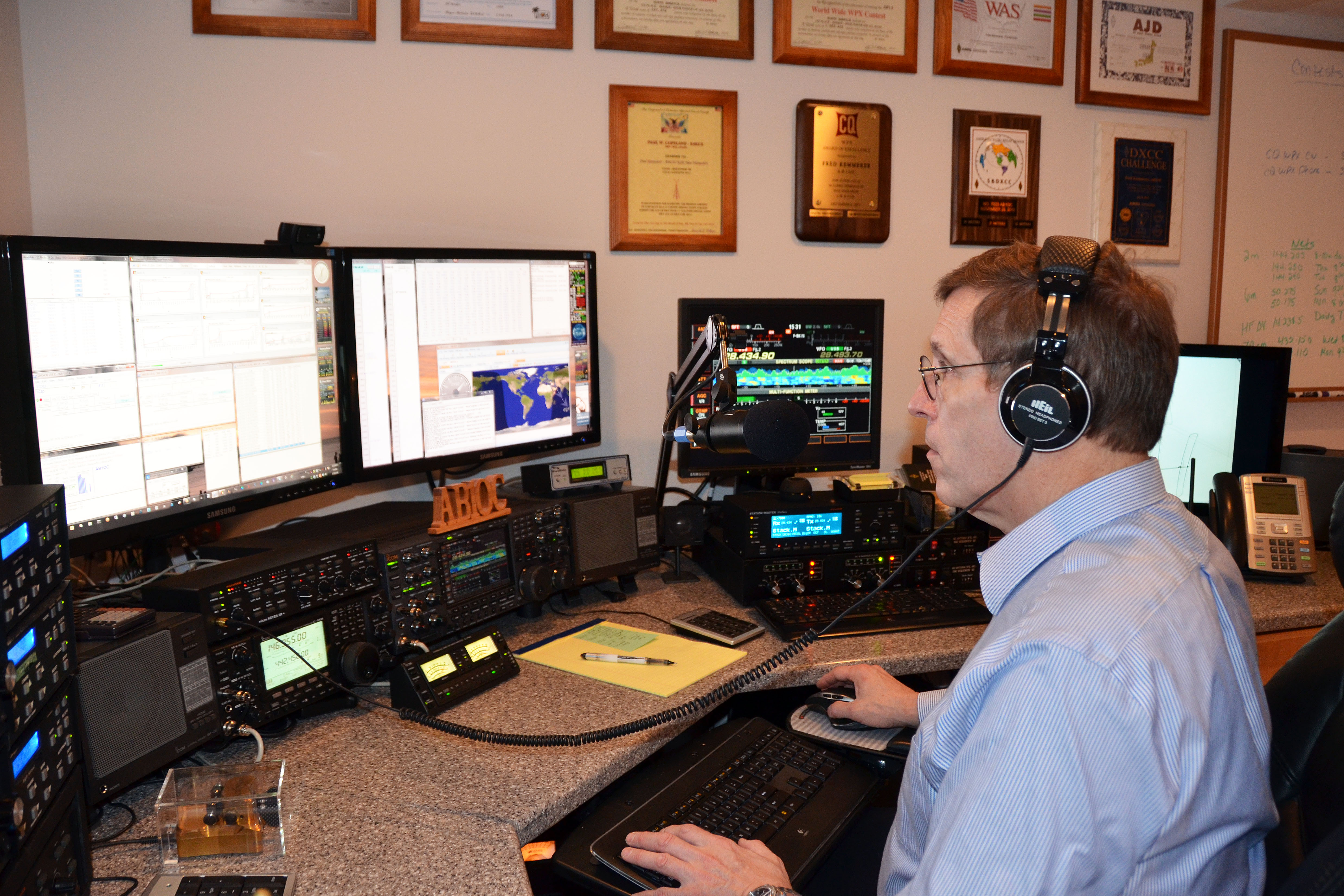 major competition stations ham radio AB1OC Operating In CQ WPX SSB