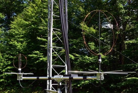 Assembled Eggbeater Satellite Antenna System