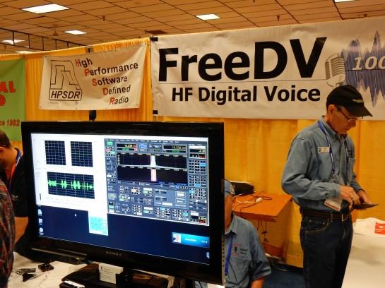 FreeDV HF Digital Voice Software Display