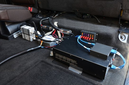 Amplifer And Accessories Under Rear Seat