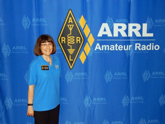 Anita, AB1QB At The ARRL Exhibit