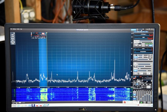 40m Delta Loop in use with FlexRadio-6700 SDR