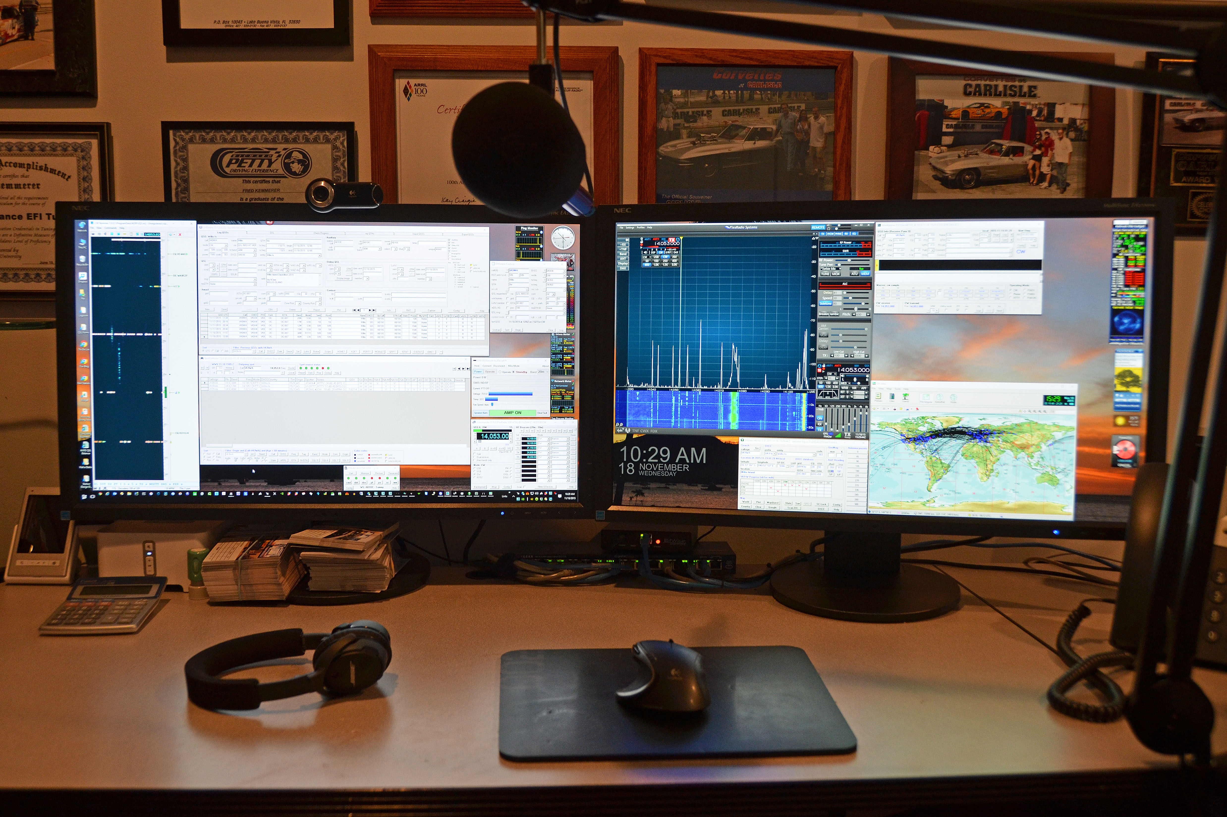 major competition stations ham radio Remote Operating Setup In Our Home Office